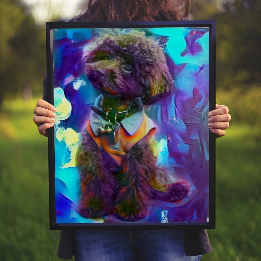 Point with Response - Incomparable pet portrait art