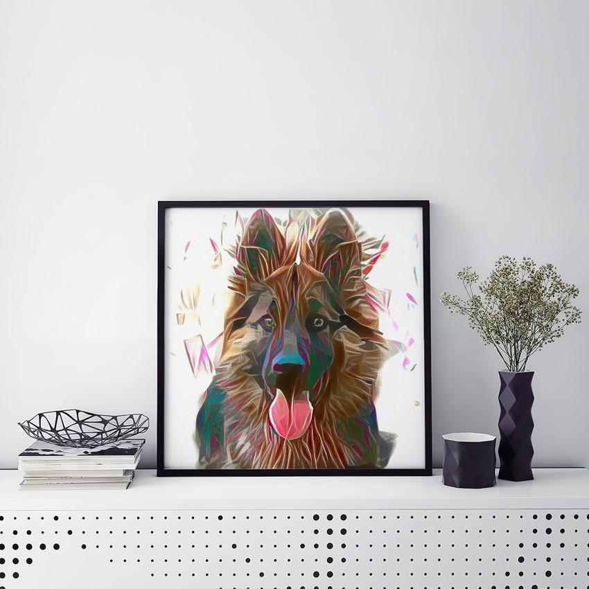 Geo Meditation - Incomparable pet portrait art