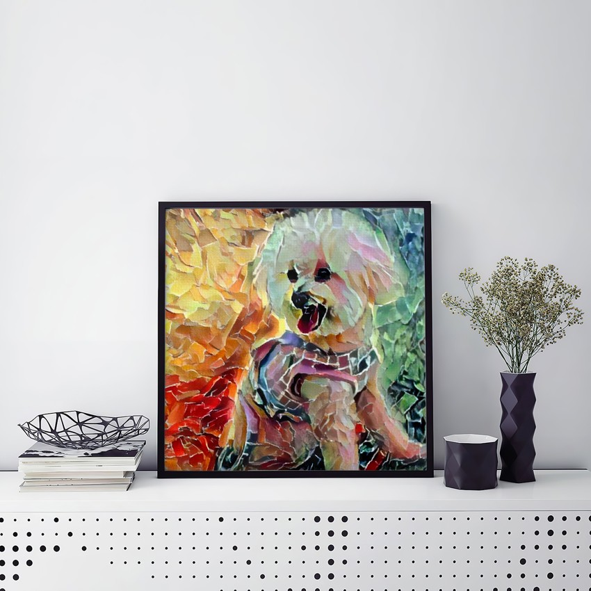 Dialogue with Energy - Museum-quality pet portraits - canvas, poster or framed