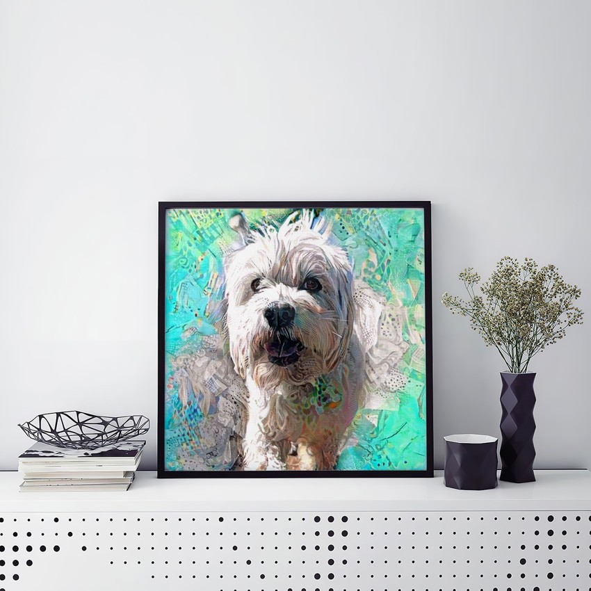 Shimmering Limitation - Museum-worthy pet portraits - poster, framed or canvas