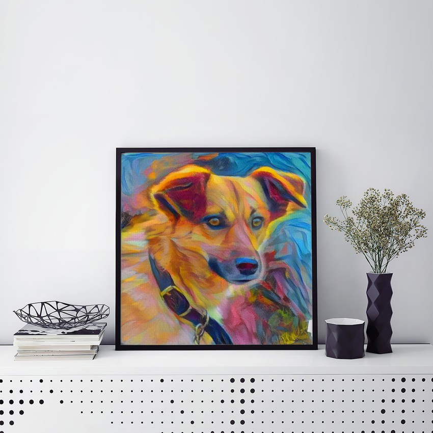 Absentminded Study for Momentary Spirit - Creative pet portraits - framed, canvas or poster