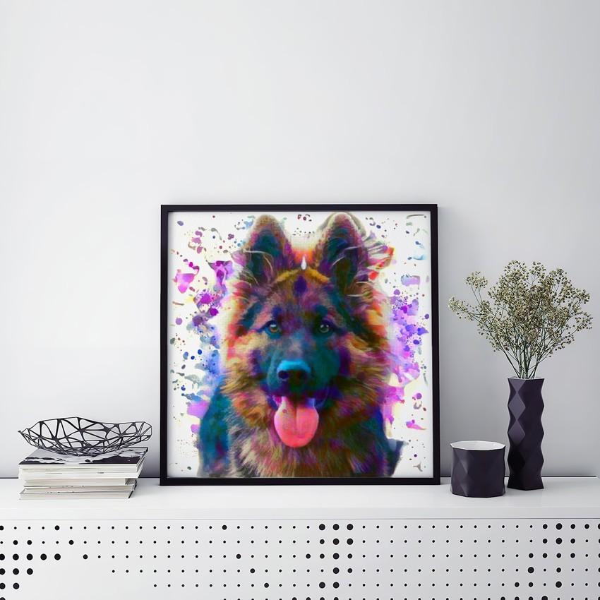 Machine with Model - Unique custom pet portraits
