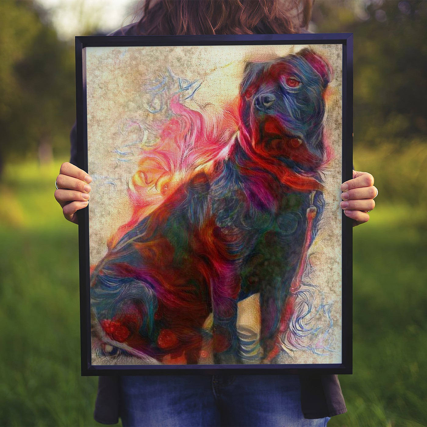 Illumination - Museum-worthy pet portraits - poster, framed or canvas