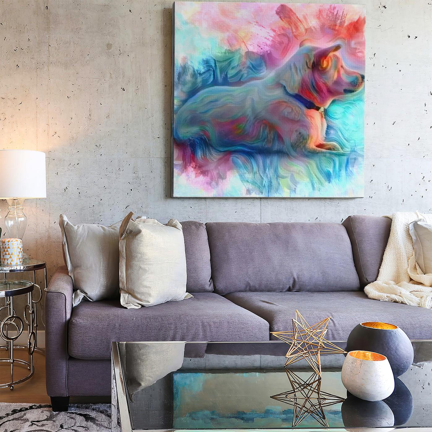Speculative - Custom Made Modern Pet Portrait Wall Art