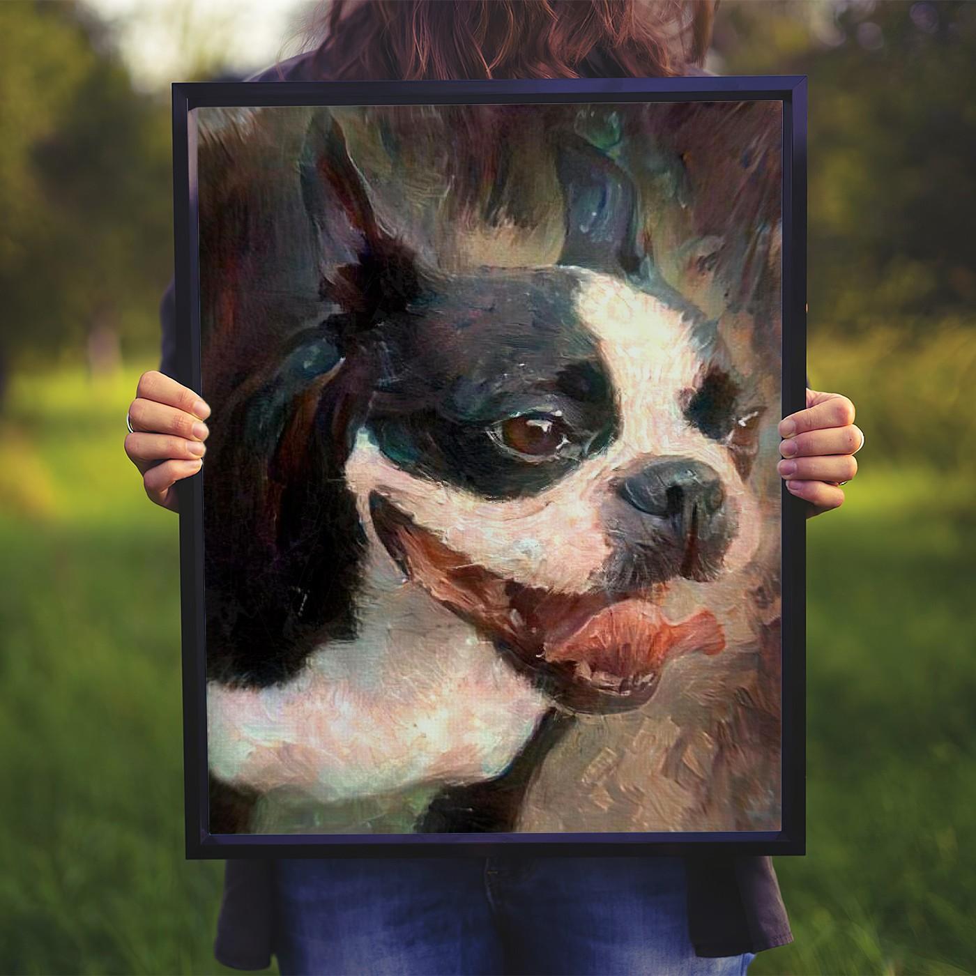 Careful Study Custom Pet Portrait Art