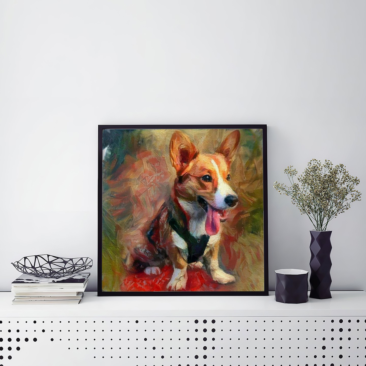 Waiting For You - Museum-quality pet portraits - canvas, poster or framed