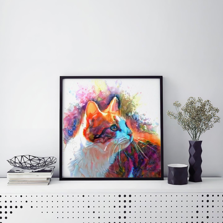 Watercolor Study - Inimitable customized pet portraits