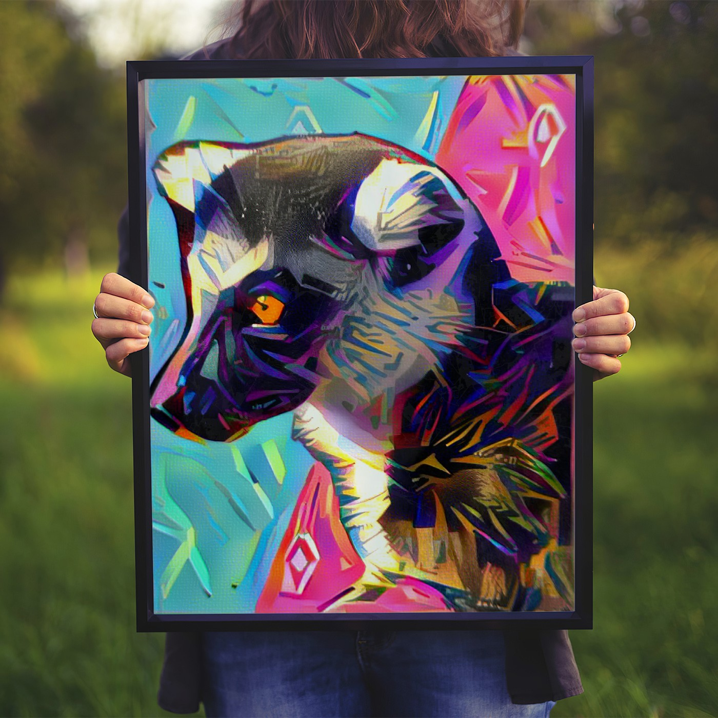 Cutout Pop Art Original Pet Canvas