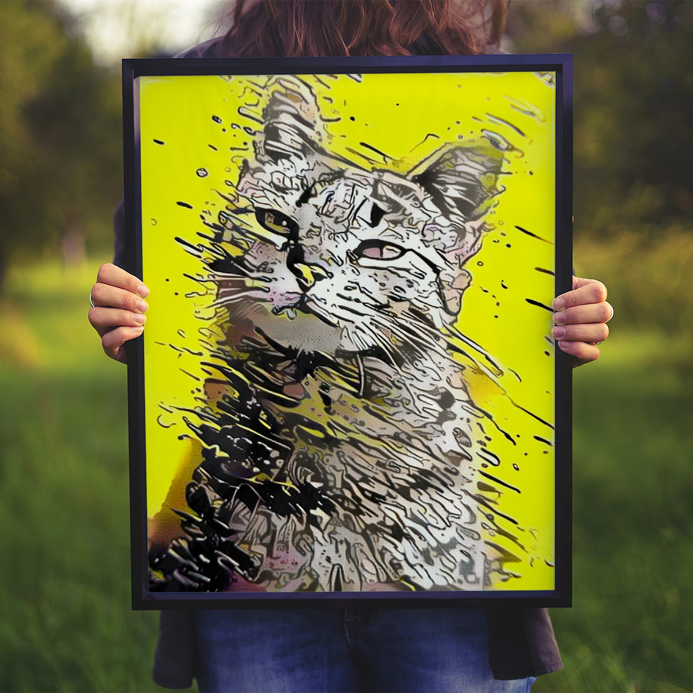 All Yellow - Unique custom pet portraits
