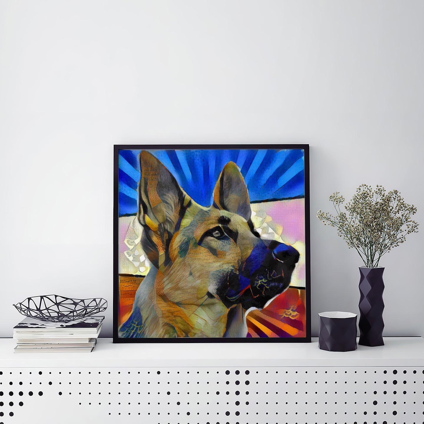 Clean Lines - One of a kind pet portraits made to order