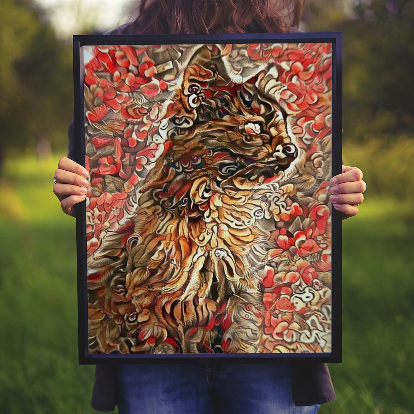 Complex Custom Pet Portrait Art