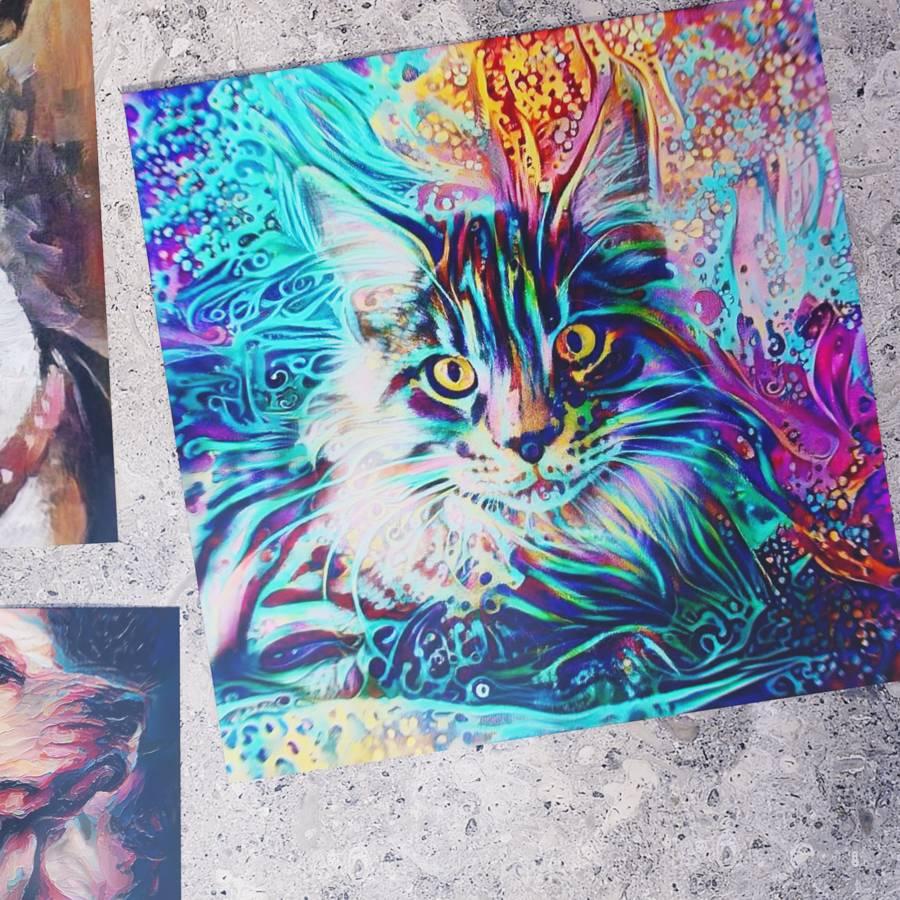 Custom Pet Portraits on Poster