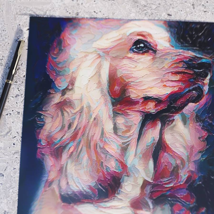 Custom Pet Portraits on Poster