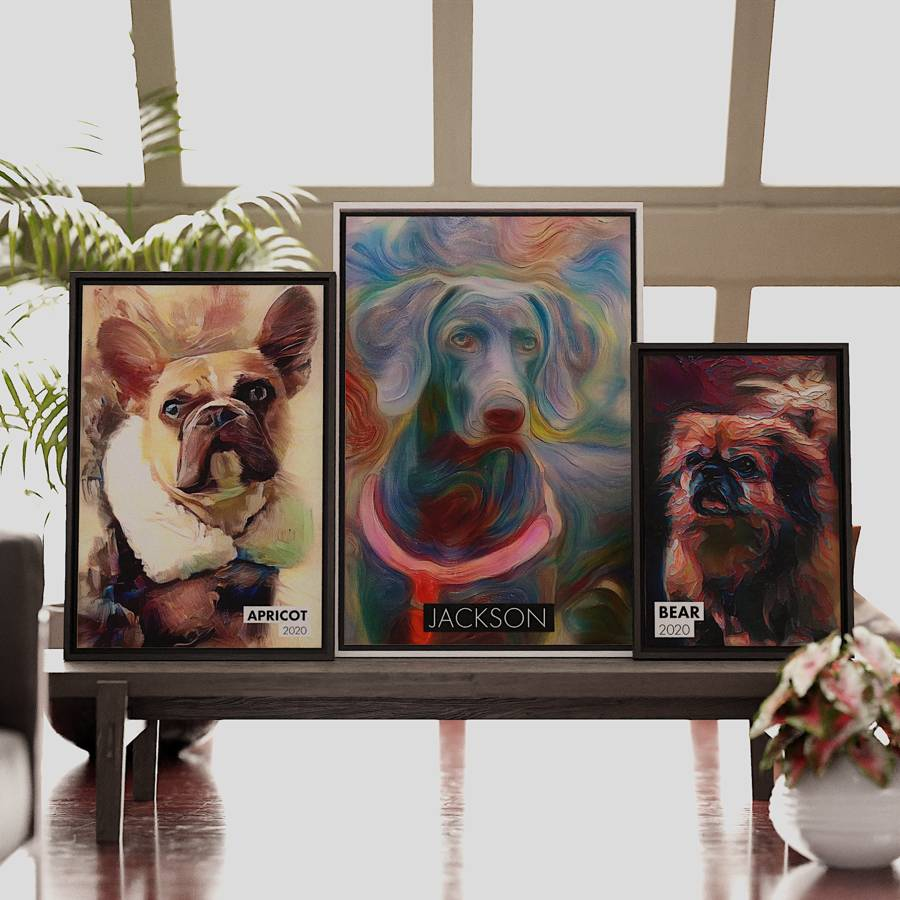 Signed Pet Portraitos