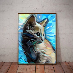 abstract cat portrait