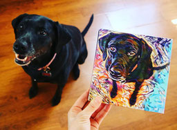 Dog picture into art