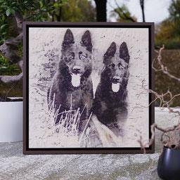 custom two pet portrait