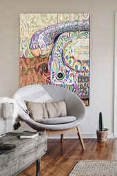 Canvas Artwork of an Abstract Telephone