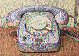 Wall Art Decor of a Telephone
