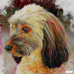 Canvas Artwork of a dog portraits Painting